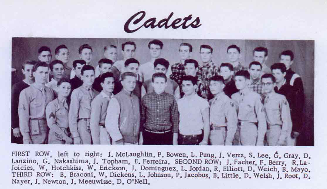 Yearbook Picture of Cadets