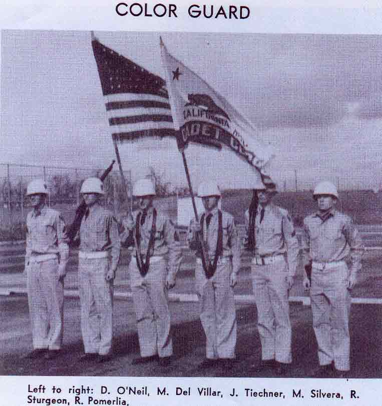 Year Book Picture.  Note the old style California Bear Flag that had Cadet Corps on the red stripe.