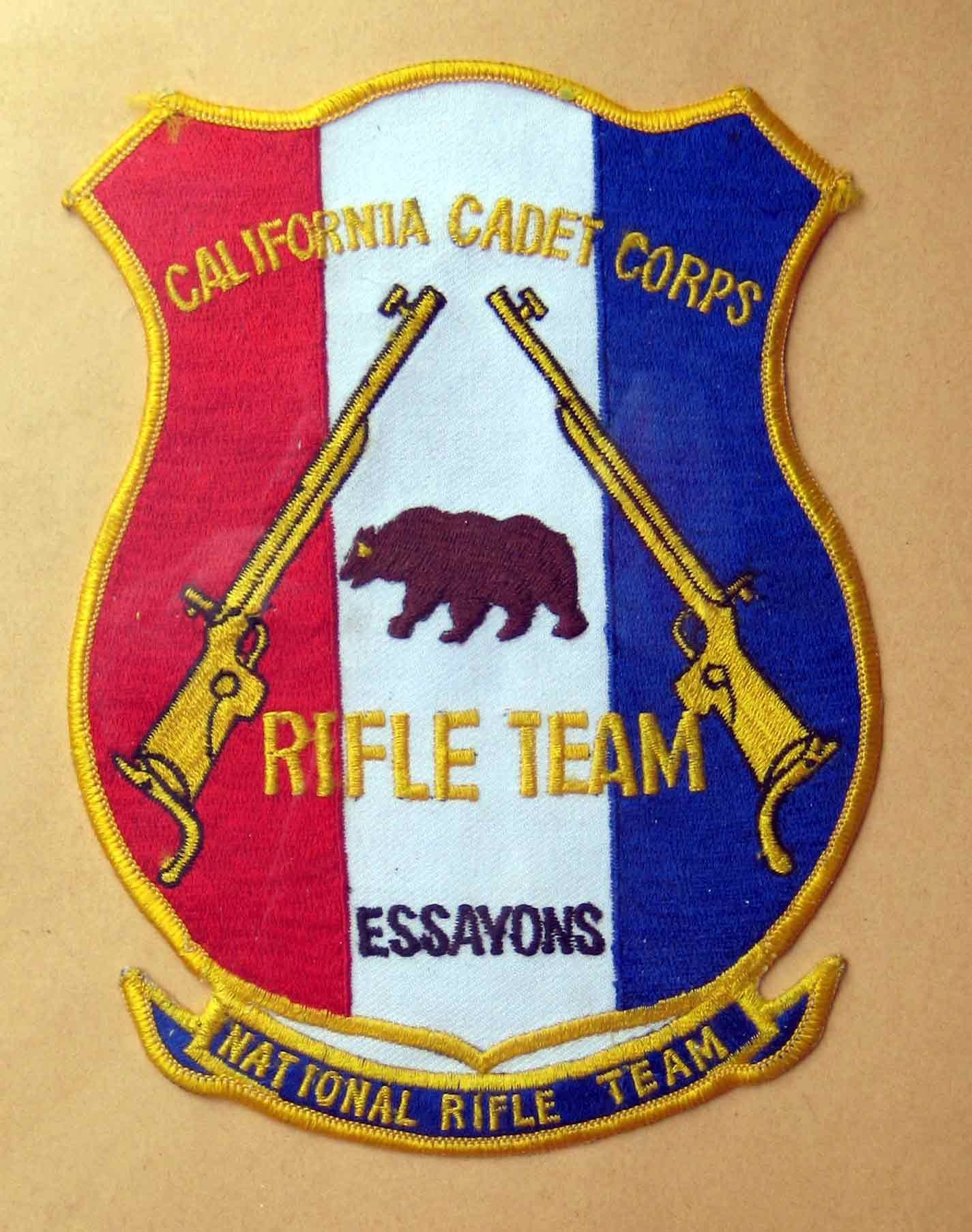 Patche presented to members of the California Cadet Corps National Rifle Team